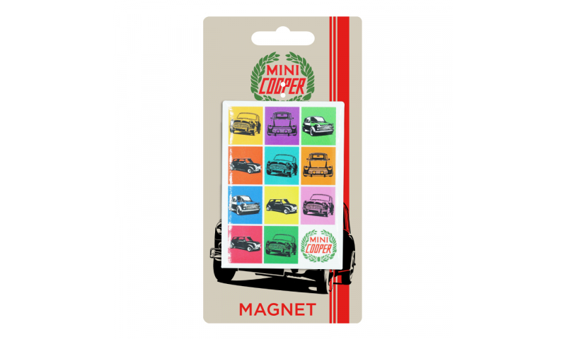 Mini Cooper TIN MAGNET - Mini Colours