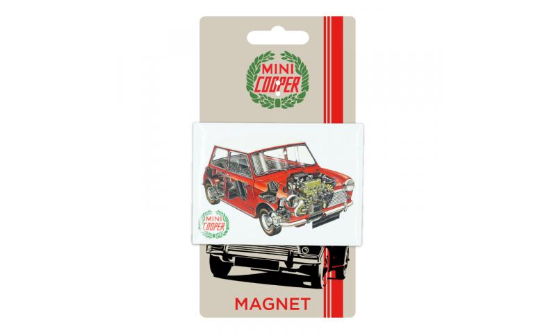 Mini Cooper TIN MAGNET - Cutaway