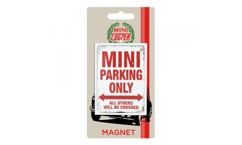 Mini Cooper TIN MAGNET - Mini Parking