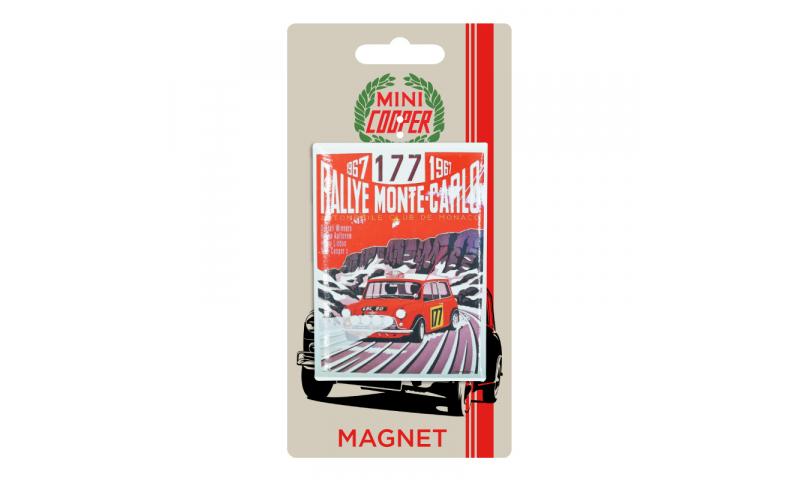 Mini Cooper TIN MAGNET - Monte Carlo Rally