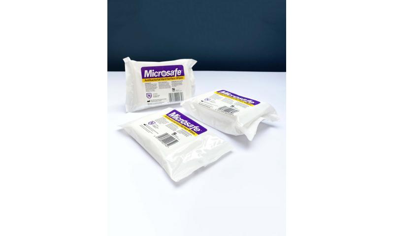 Microsafe ANTI-BACTERIAL Surface Wipes, 25pk PCS 100928