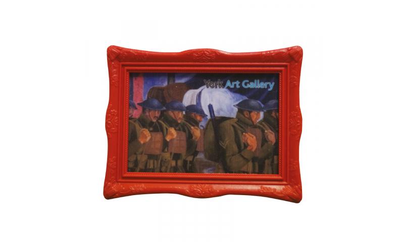 Painting Frame Fridge Magnet, 8x5cm Fully Bespoke