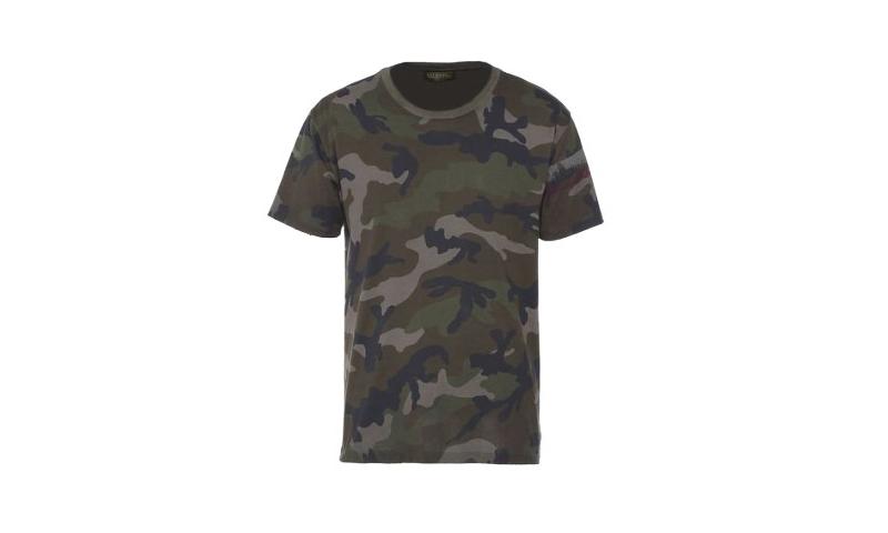 Camo T-Shirt, Adult sizes,  1 colour 1 position,  150sq cm