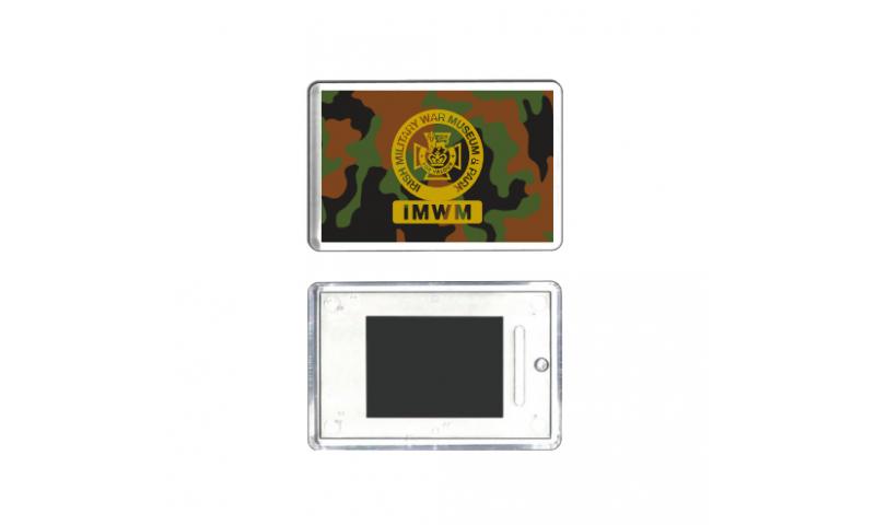 Camo Acrylic Fridge Magnet, Camo Background with your design