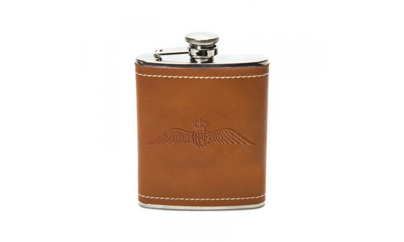 Leatherette 6oz Hip Flask, printed 1 Colour 1 position inc. *