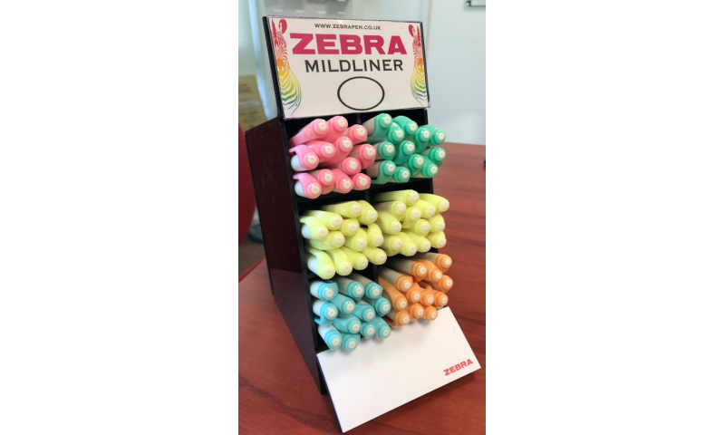 Zebra Mildliner Twin Tip Pastel Highlighters, Chisel Tip Display of 60 Assorted