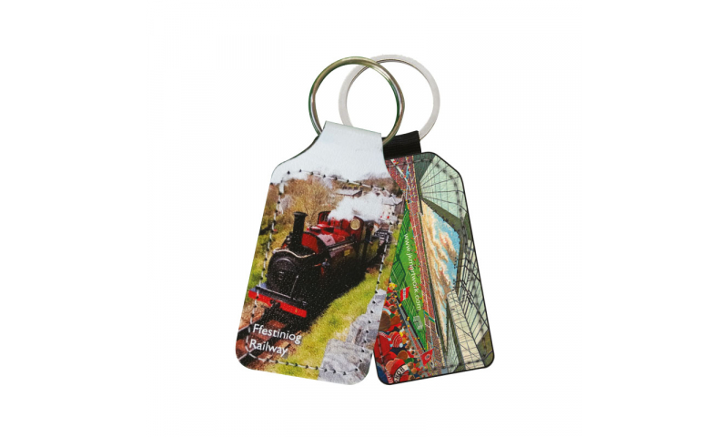 Leatherboard Keyring, Full Colour Print