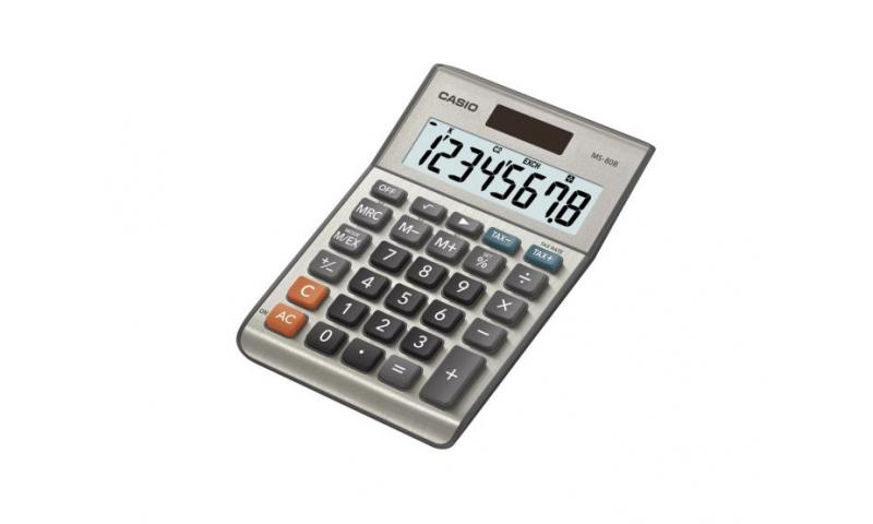 Casio 8 digit, Dual Power, Metal cover, Desk Calculator, Euro & Tax Conversions