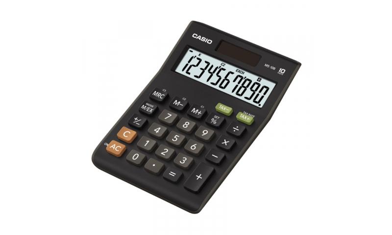 Casio 10 Digit Desk Calculator, Tax Buttons, Black