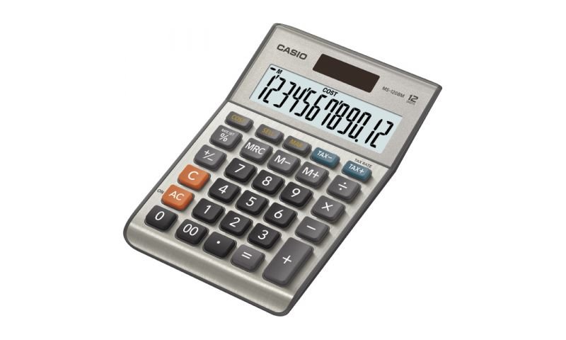 Casio 12 Digit Desk Calculator, Tax, Currency Exchange