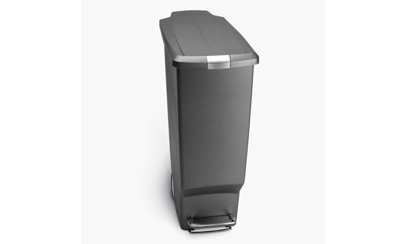Simplehuman® slim pedal bin, Black or Grey Plastic, 40L with soft close lid