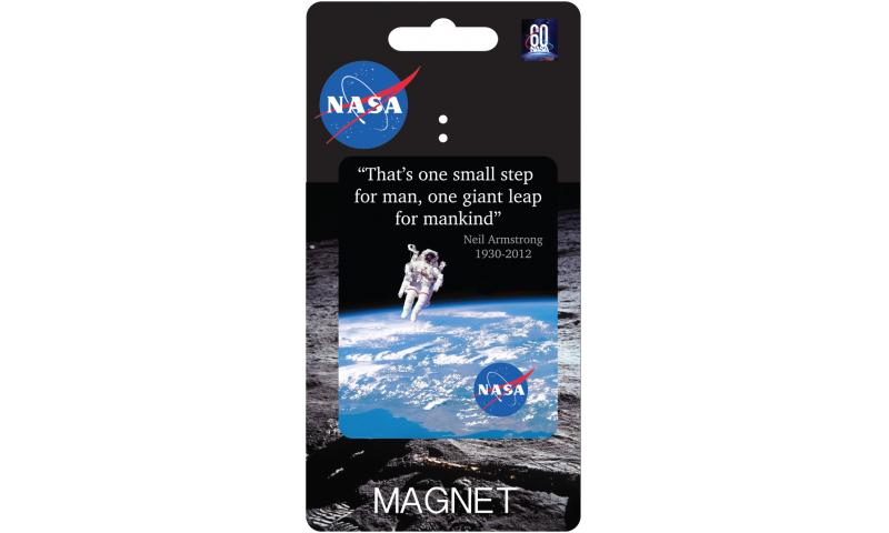 NASA Tin Magnet - Space Walk Design