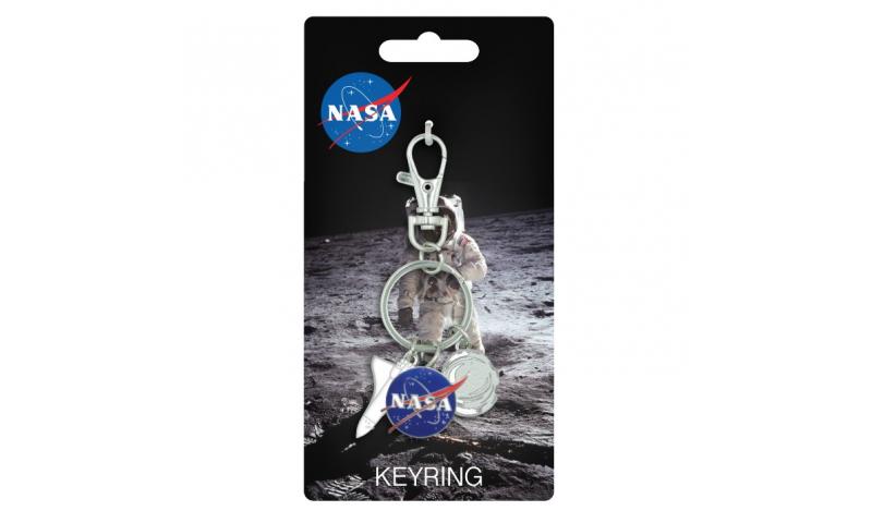 NASA Charm Keyring