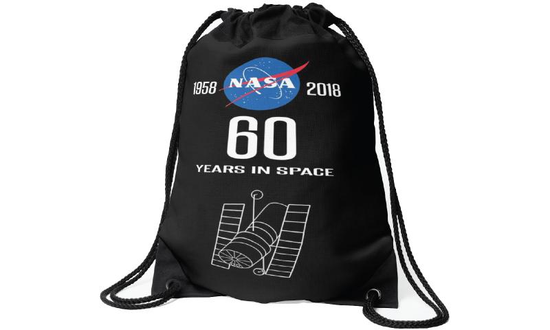 NASA Nylon Drawstring Sports Bag