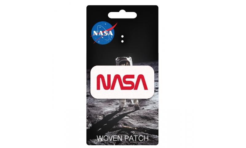 NASA Retro Design Iron On Woven Patch
