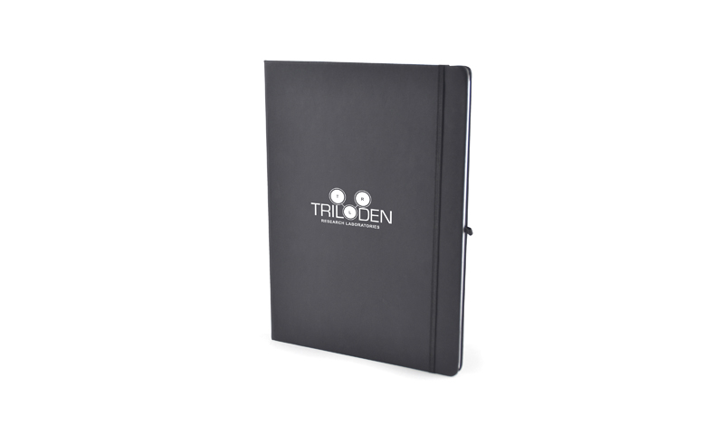 A4 Soft Cover Printed Notebook with Elastic Strap, 96 Pages. Either Blind Embossed or Printed.