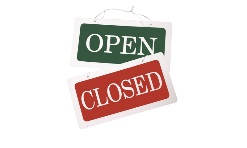 Lynx Hanging Sign Double Sided Open/Closed