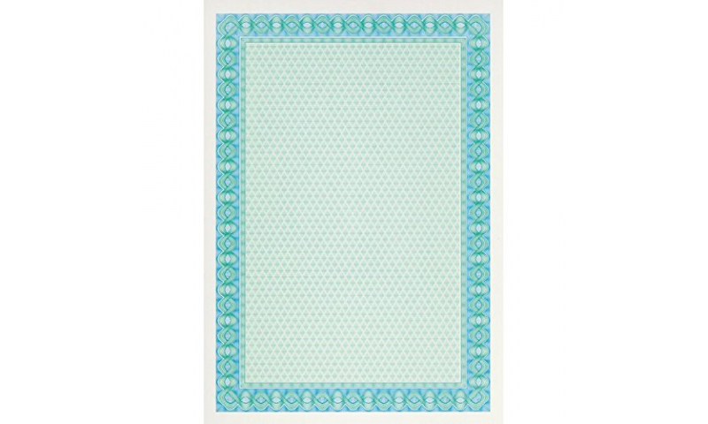DECADRY A4 Certificate Paper 25 Sheets - Turquoise (New Lower Price for 2021)