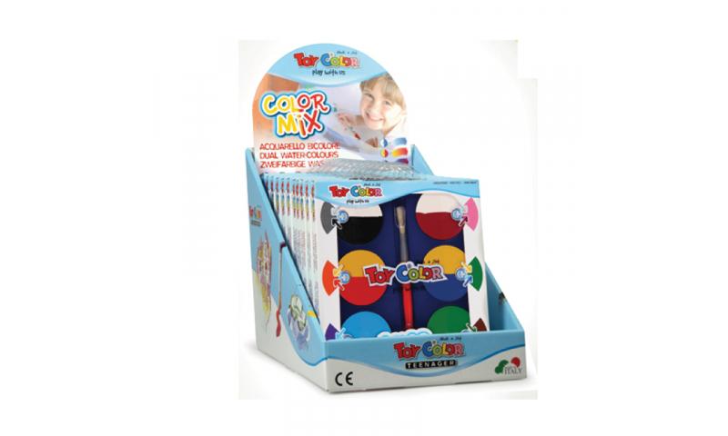 Toycolor Watercolour ColorMix 6 Giant Bi-colour tablets