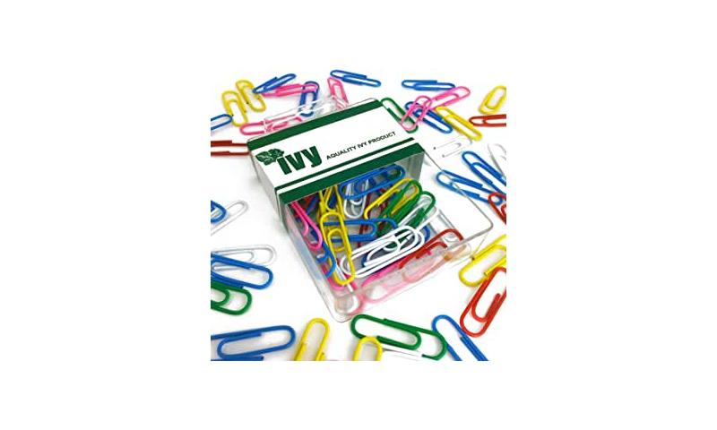 IVY Hang Tidy Box Paper Clip Asstd 28mm, 75pcs