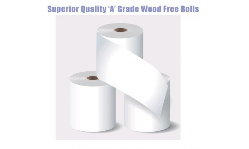 Superior Quality 'A' Grade Wood Free Paper Rolls, 89x76mm, Box of 20