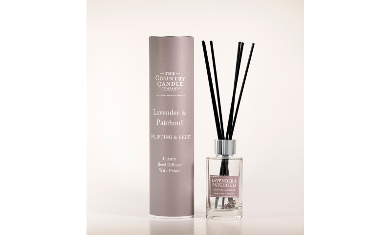 Country Candle Lavender & Patchouli Pastel 100ml Reed Diffuser