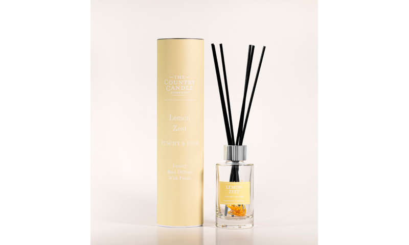 Country Candle Lemon Zest Pastel 100ml Reed Diffuser