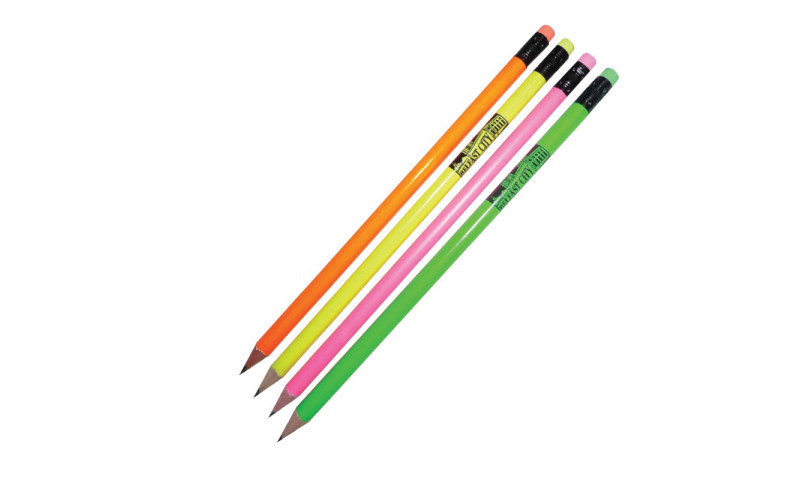 Neon Pencils with Matching Eraser