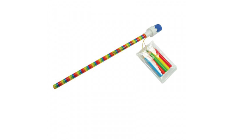 Novelty Rainbow Pencil with Mini Crayons