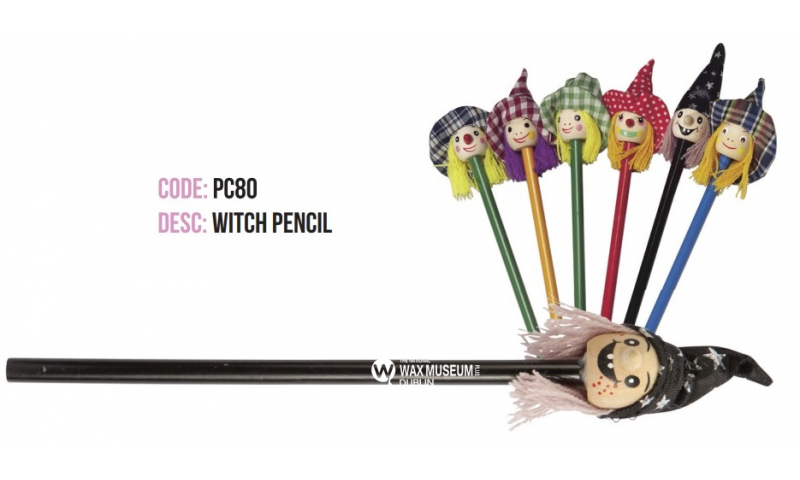 Halloween Witches Head Wooden Pencils, Asstd Printed with your logo