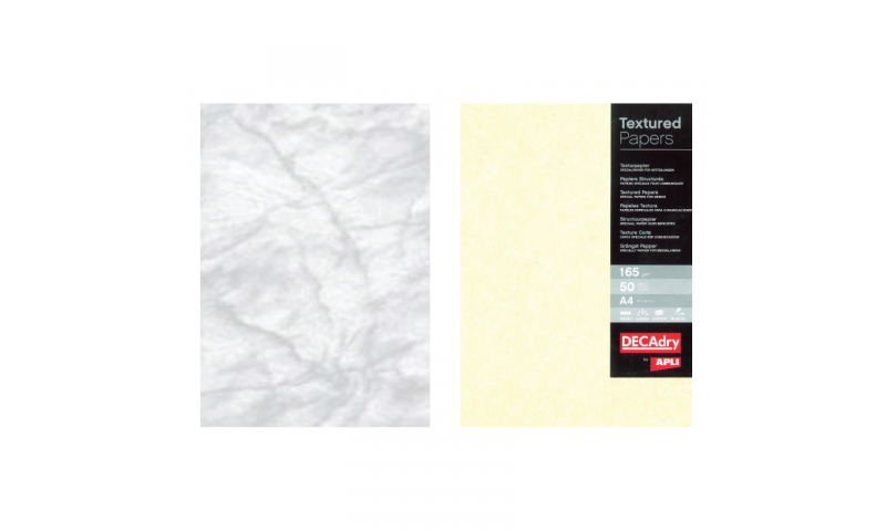 Decadry A4 Letterhead Marble Grey Parchment 95gsm 100 Sheet Pack