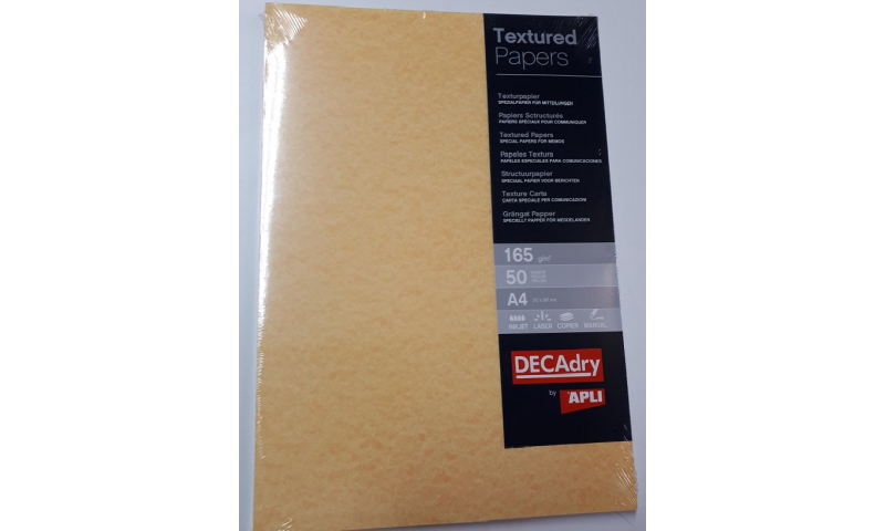 Decadry A4 Letterhead Gold Parchment Card 165gsm 50 Sheet Pack.