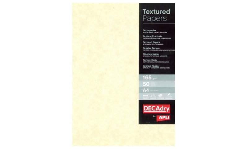 Decadry  A4 Letterhead Champagne Parchment Card 165gsm 50 Sheet Pack