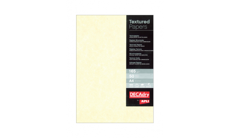 Decadry A3 Letterhead Champagne Parchment 165gsm, 25 Sheet Pack.