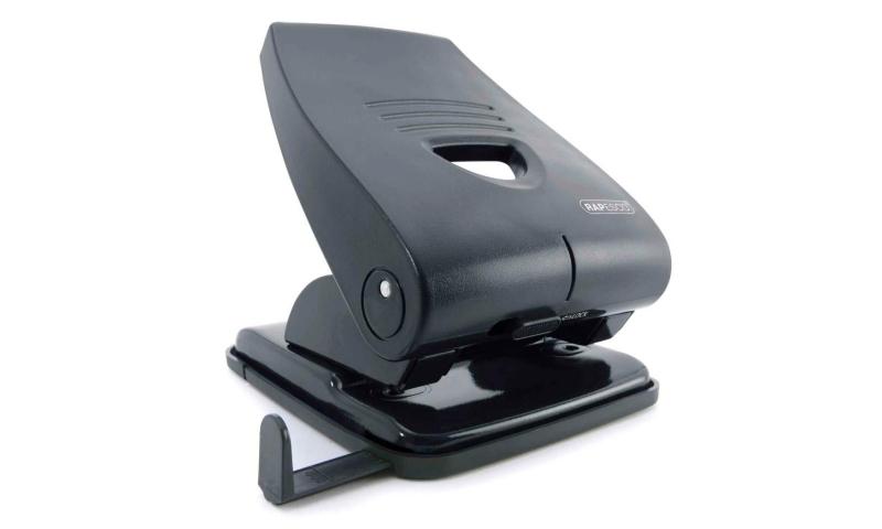 Rapesco P-835 40 Sheet H/Duty Perforator, Black, Lockdown Button