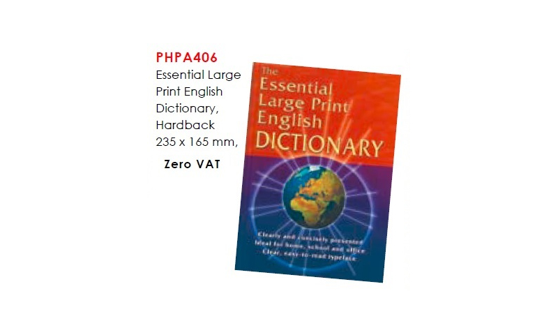 Essential Large Print English Dictionary, Hardback 235 x 165 mm: On Special Offer