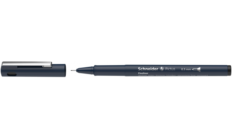 Schneider Pictus Fineline Drawing Pen, 8 Line widths to choose from.