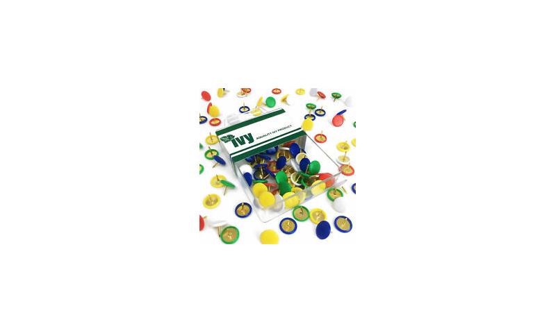 IVY Hang Tidy Box D/Pins Coloured 9.5mm, 100pcs