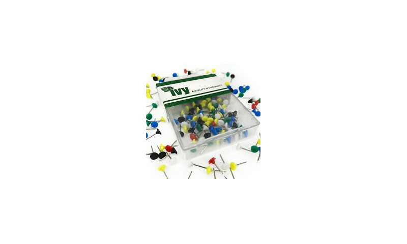 IVY Hang Tidy Box Map Pins 5mm, 100pcs