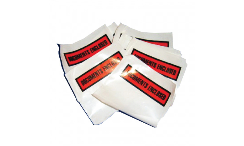 Adhesive Documents Enclosed Wallet - A4 Plain, Pack 500