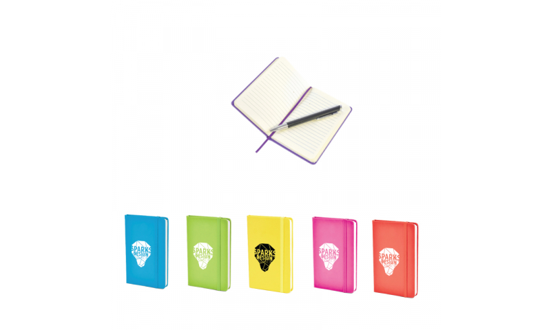 A6 ColourTrend Notebook W/Strap - NEW