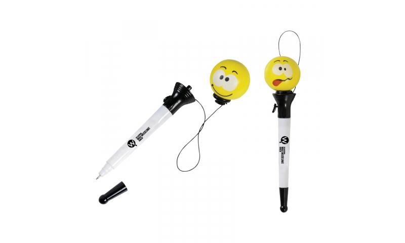 Smiley Popper Pen - NEW