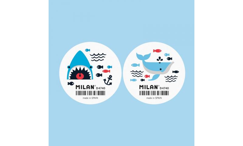 Milan 4740 Shark Attack Large Erasers, Asstd in Tub. (New Design)