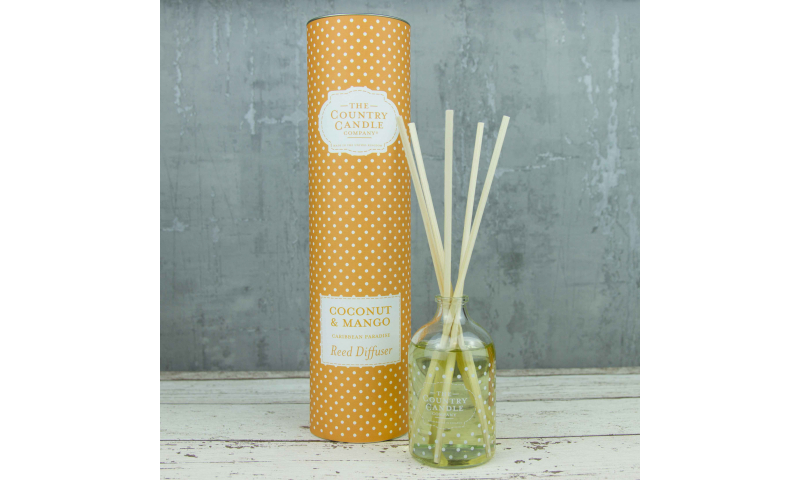 Country Candle Coconut & Mango Polka Dot Reed Diffuser
