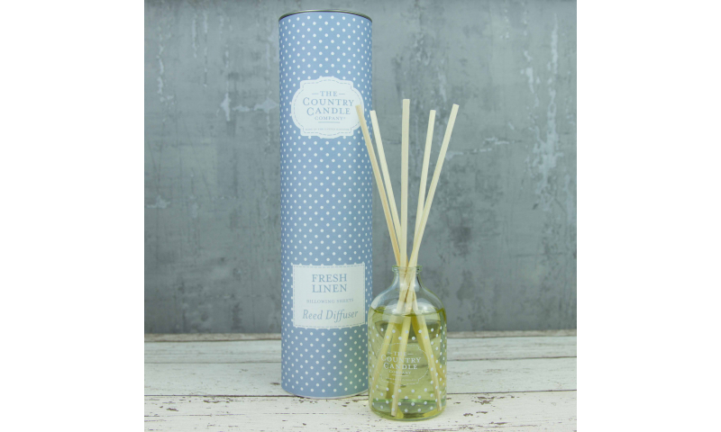 Country Candle Fresh Linen Polka Dot Reed Diffuser