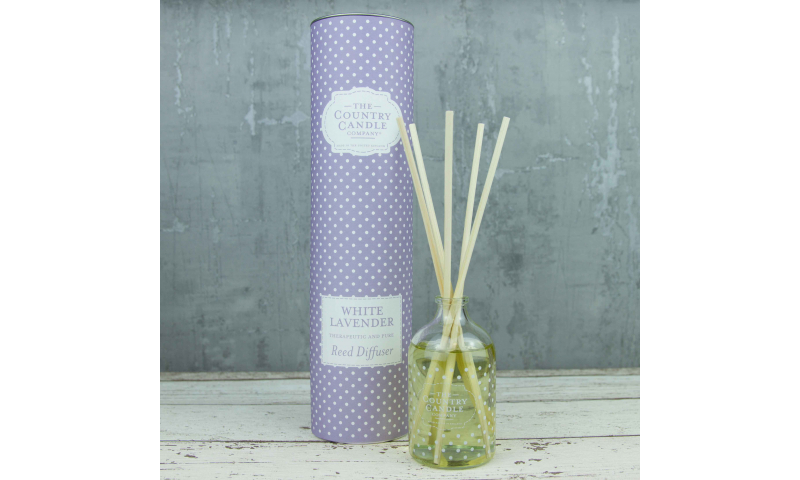 Country Candle White Lavender Polka Dot Reed Diffuser