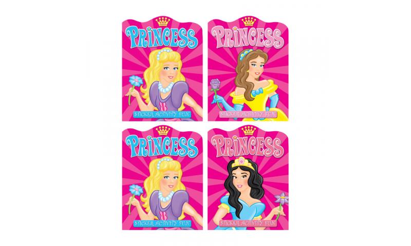 Childrens Books Princess Sticker & Activity Book, 4 Asstd