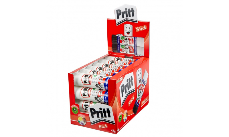 PRITT Glue Stick 43G Large in Counter Display Box (New Lower Price for 2021)