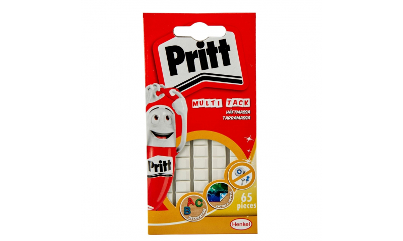 Pritt Sticky Tack, Quick dispense White Squares (Now 65, additional 18% FREE Plus New Lower Price for 2021)