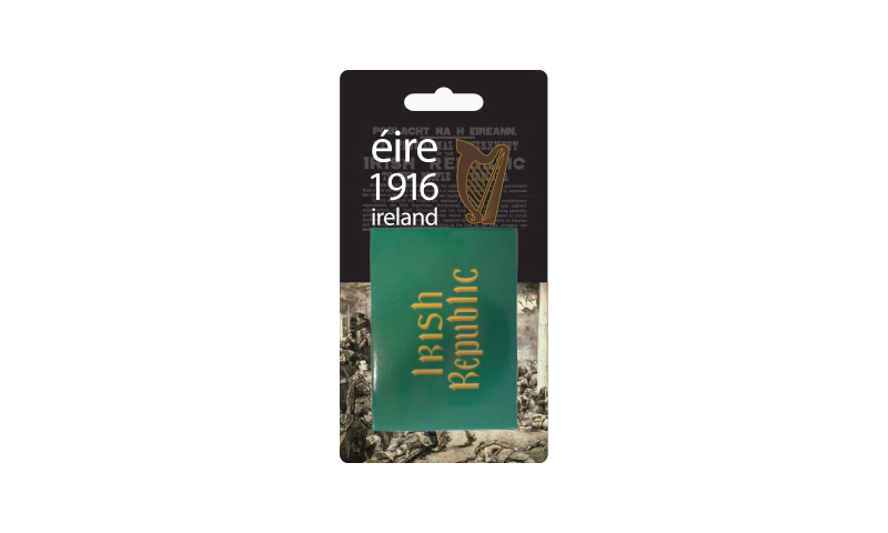 Proclamation Irish Republic Flag Magnet on Headercard
